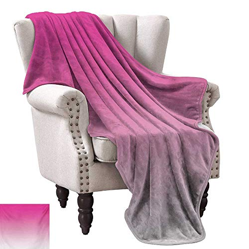 WinfreyDecor Ombre Super Soft Blankets Hot Pink Candy and Cream Girly Elements Inspired Ombre Digital Design Art Print Modern Anti-Static Throw 30