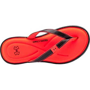 e012ad64b Under Armour Girls Comfortable Flip Flops UA Marbella V Sandal Thongs (4 M  US Big