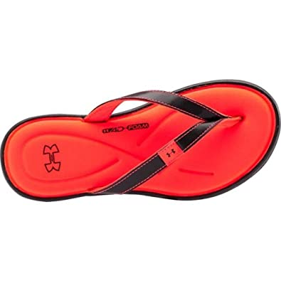 under armour sandals for girls. under armour ua marbella iv thong sandal - black/neo pulse girls 1 sandals for n