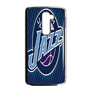 Utah Jazz NBA Black Phone Case for LG G2 Case