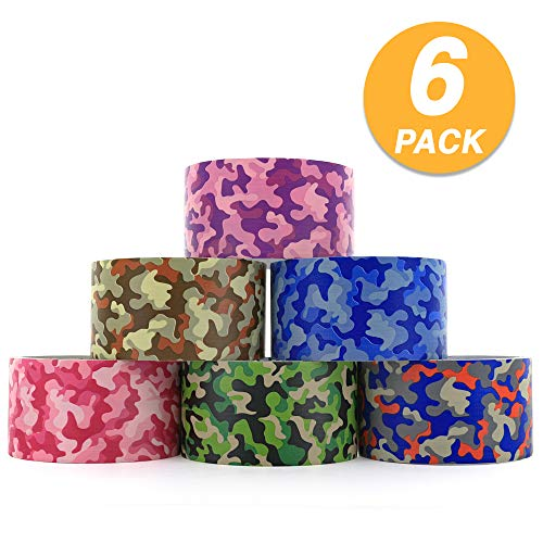 (RAM-PRO Camouflage Series Heavy-Duty Duct Tape | Assorted Colors Pack of 6 Rolls, 1.88-inch x 5 Yard - Colors Included: Blue/Orange/Green, Brown/Grey, Green, Blue, Purple, Pink. )