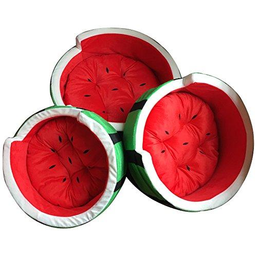 (JOKHOO Cute Watermelon Pet Bed Dog Cat Nest Fruit Pet House (Watermelon Style))