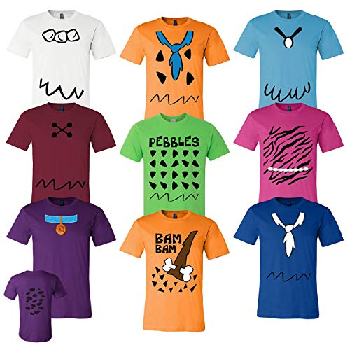 Flintstones Adult, Youth, Toddler Inspired Cosplay Costumes T Shirt - For Family, Cruise Events]()