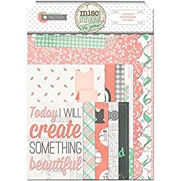 Bo Bunny 15426157 Misc Me Binder Contents-Pincushion Journal