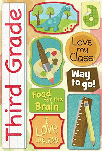 KAREN FOSTER 11523 Design Acid and Lignin Free Scrapbooking Sticker Sheet, Third Grade