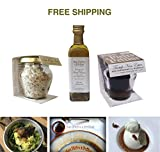 Truffle set: Black Truffle Salt 50 g, Olive oil with white truffle 55 ml and Black summer truffle with Marsala wine 30 g, San Pietro a Pettine / Italy