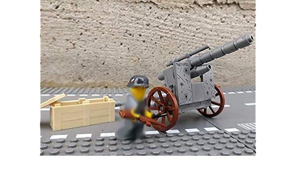modbrix 50111 - ✠ tanque Ladrillos contra Cañón Pak Stellung Incluye Custom Armadas Soldado ✠: Amazon.es: Juguetes y juegos