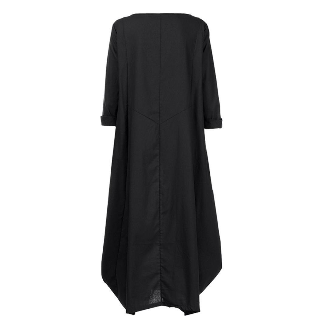 ff301fbff Vestido Tallas Grandes Mujer Verano Elegante Asimetricos Vestidos de Premama  Manga 3 4 para Fiesta Ampliar imagen