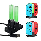 Cheap Nintendo Switch Joy-Con Charger, SubClap Controller Charger Stand Charging Dock Station for Nintendo Switch Wireless Controller with Type C Cable