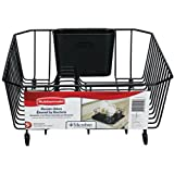 Rubbermaid L3-6008-M5-BLA  Antimicrobial Small Dish Drainer, Black