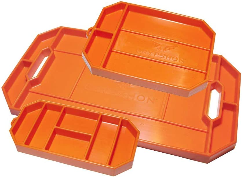 Grypmat | Non-Slip Flexible Orange Tool Tray