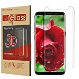 Galaxy S8 Screen Protector,Galaxy S8 Tempered Glass,Kaseberry Full Coverage Screen Protector for Galaxy S8 ( Case Friendly Updated Version) HD Clear Anti-Bubble Film