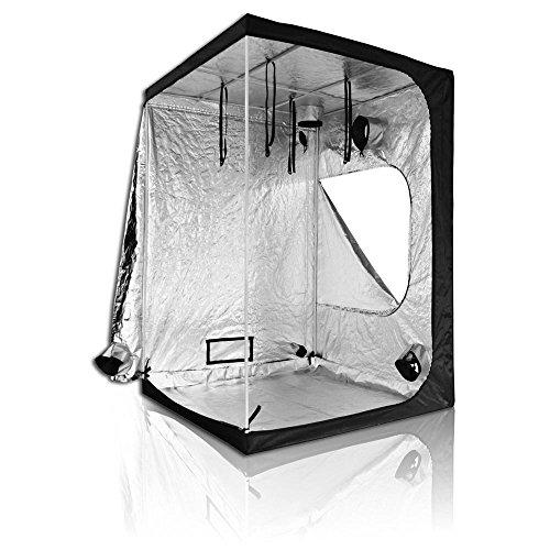 "51sir83g38L - LAGarden 60""x60""x84"" 100% Reflective Mylar Hydroponics Indoor Grow Tent Non Toxic Planting Room 5'X5'X7'"