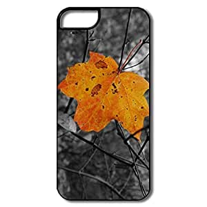 IPhone 5/5S Cases, Yellow Leaf White/black Cases For IPhone 5