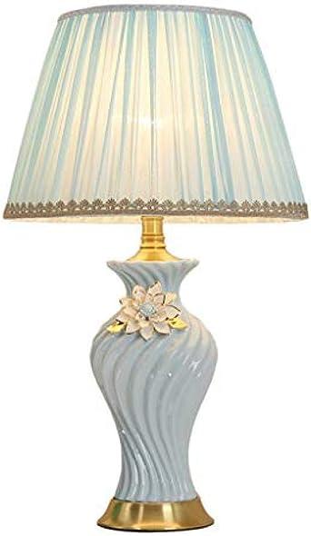 Lámpara de Mesa Azul - Lámpara de Mesilla de Cerámica para ...