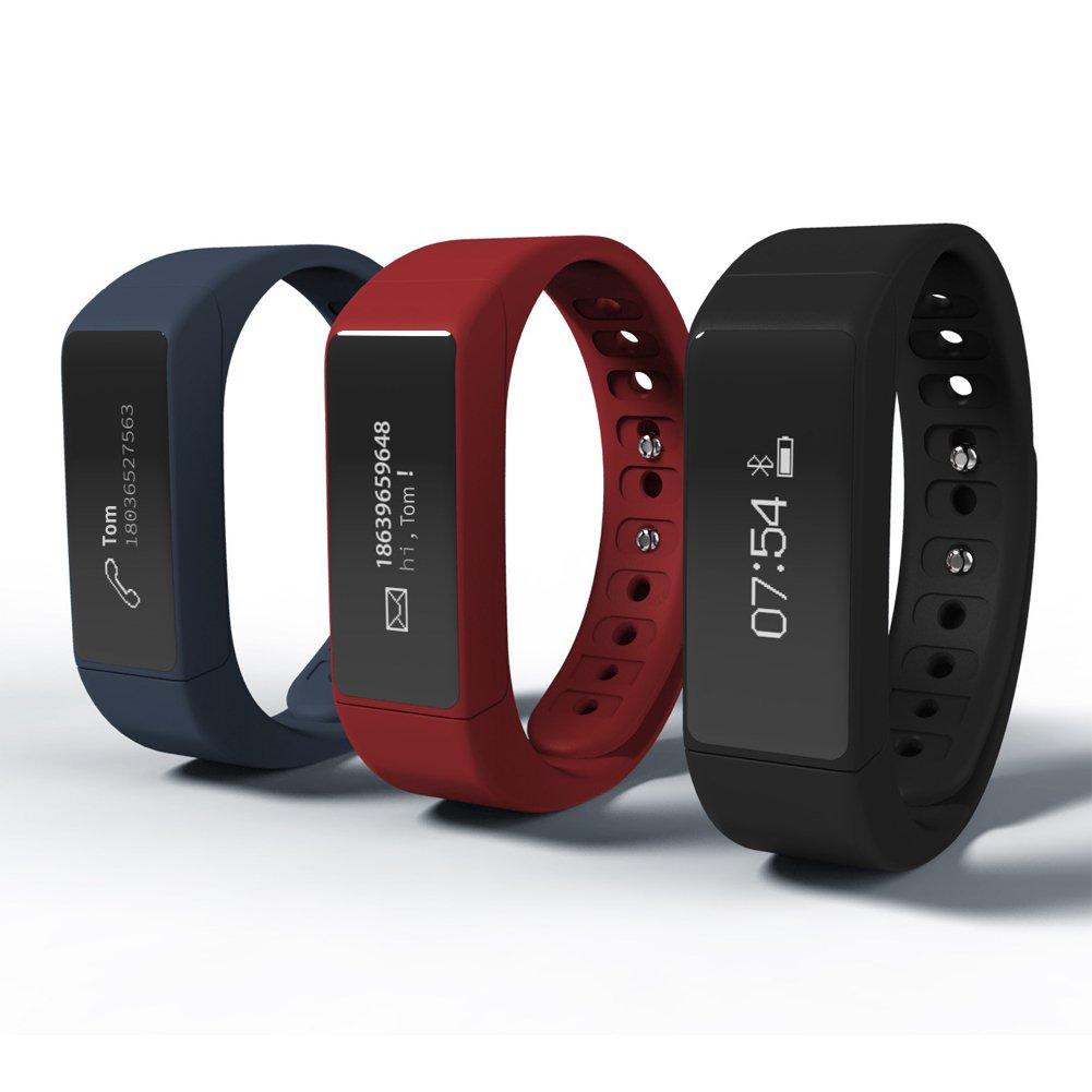 Fitness Tracker Reloj desde shinap® - Mejor banda Wearable Smart para seguimiento de actividad con podómetro, contador de calorías y alarma & # xFF0 C; ...