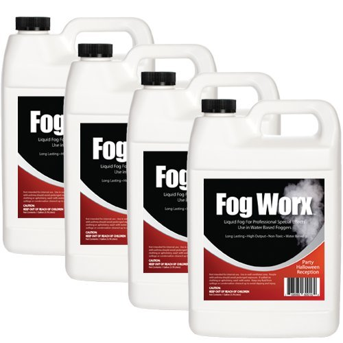 Sanco Industries FogWorx Fog Juice - Medium Density, High Output, Long Lasting Fog Machine Fluid- 4 Gallon Value Pack ()