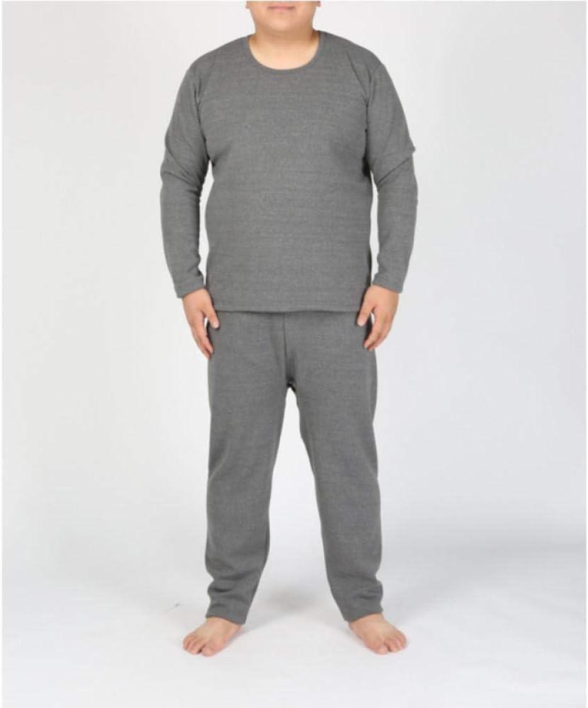 SGJKG Ropa Interior térmica de Talla Grande para Hombres otoño Invierno algodón Grueso súper Suave Grueso Suelto cálido Camisa Larga Pantalones Conjunto de Ropa Interior: Amazon.es: Deportes y aire libre