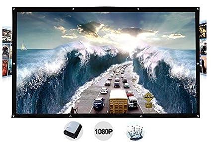 Amazon.com: 300 inches Soporte de pared película Proyector ...