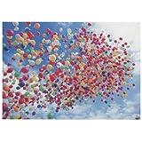 Postkarte Bunte Luftballons