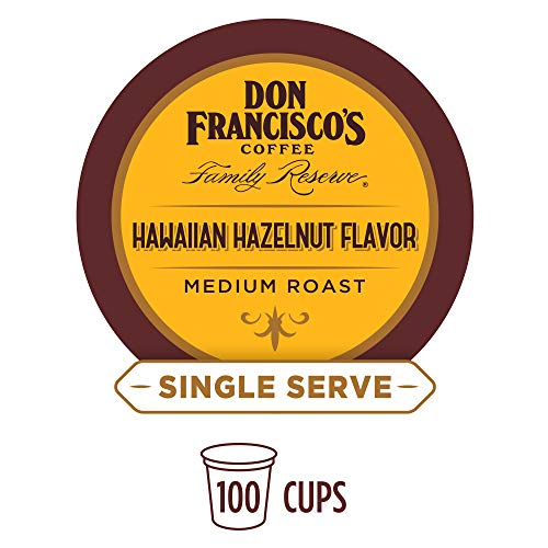 Coffee Hawaiian Flavored Hazelnut - Don Francisco's Hawaiian Hazelnut Flavored (100 Pods) Single Cup Coffee Pods, Compatible with Keurig K-Cup Machines