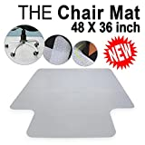 Office Chair Mat For Carpet Floors Plastic Carpet Floor Protector Mat Studded With Lip For Home Office Desk Chair 3MM Clear 48''x36''