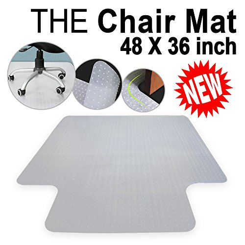 Office Chair Mat For Carpet Floors Plastic Carpet Floor Protector Mat Studded With Lip For Home Office Desk Chair 3MM Clear 48''x36'' by Nova Microdermabrasion