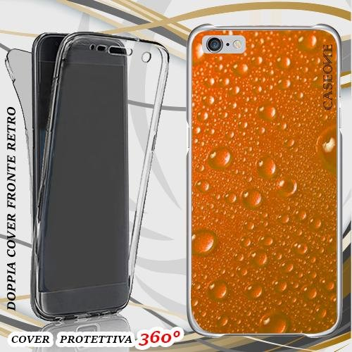 CUSTODIA COVER CASE ORANGE RAIN PER IPHONE 6 PLUS FRONT BACK