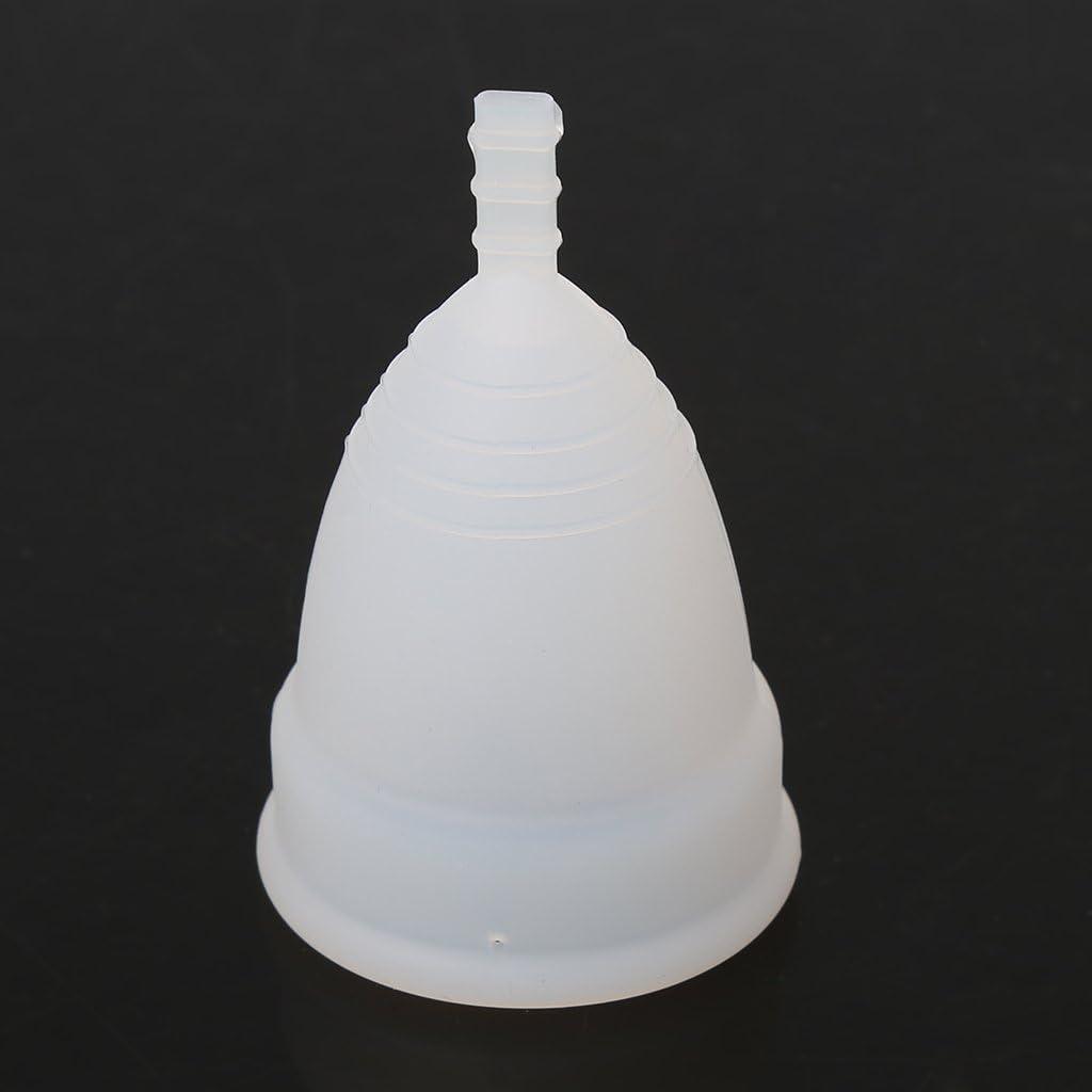 ER-NMBGH Suave Silicona Reutilizable Salud Per/íodo Menstrual Copa Lady Descarga Menstrual Copa De Gel De Silicona Reutilizable Menstrual Copa De Fugas De Seguridad Libre De La Copa Copa Menstrual