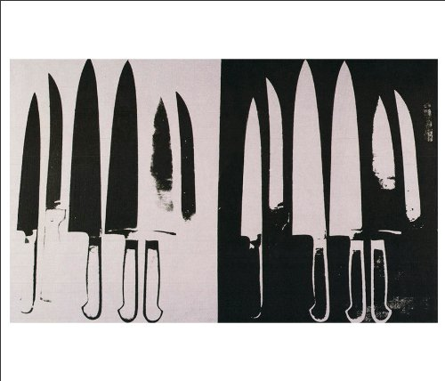 (Beyond The Wall Andy Warhol Knives Fine Pop Art Poster Print (11X14 UNFRAMED PRINT))