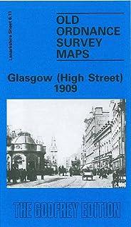 OLD ORDNANCE SURVEY MAPS GLASGOW EAST END SCOTLAND 1893 GODFREY EDITION