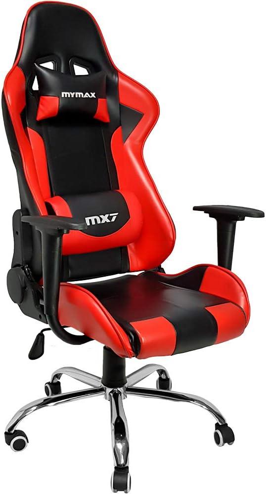 Cadeira Gamer Mx7, Mymax, 25.008788, Vermelho/Preto