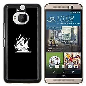 EJOOY---Cubierta de la caja de protección para la piel dura ** HTC One M9Plus M9+ M9 Plus ** --Bandera Pirata Bay
