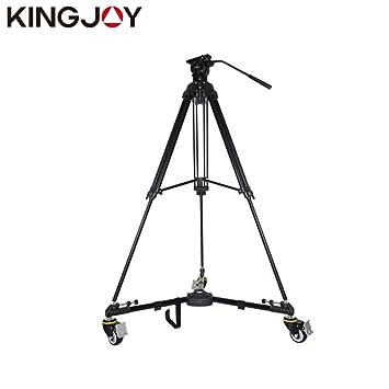 Kingjoy VX-600 Plegable trípode Base Soporte fotografía 3 Ruedas polea Ajustable Pierna Monta Carga máxima 20 kg para cámara: Amazon.es: Electrónica