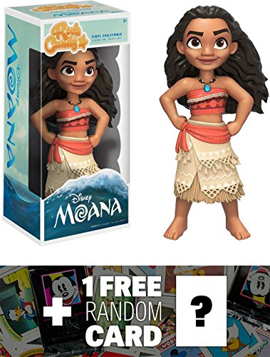 Moana  Funko Rock Candy X Disney Moana Vinyl Figure   1 Free Official Dc Trading Card Bundle  117999