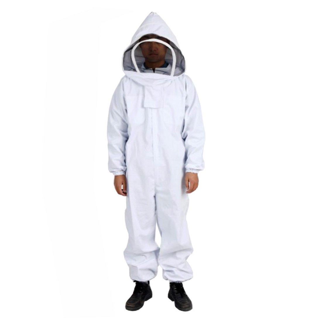 Andux Bienenzucht Schutzanzug Anti-Biene Ausrüstung Einteilige Imker-Anzug mit Schleier Hood Set YFF-01