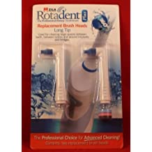 Pack of 2 Rotadent Plus Brush Heads - LONG TIP by Roomidea