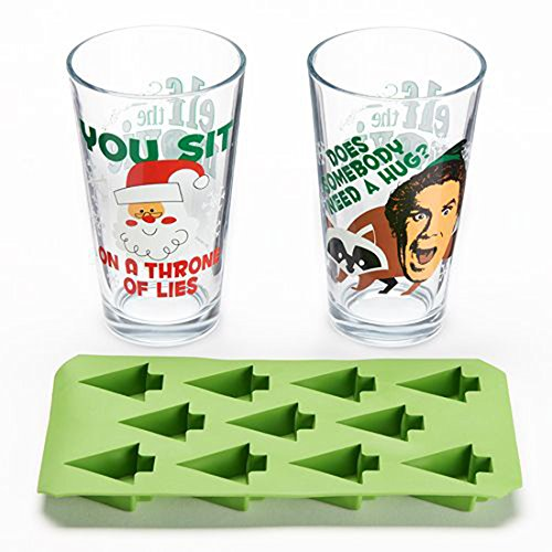 Elf the Movie Fun Glass and Ice Cube Tray Combo Pack