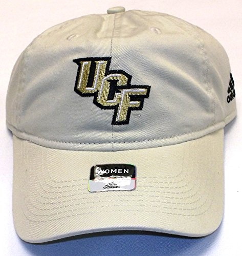 NCAA Central Florida Knights Slouch Strap Back Adidas Hat - Women -EA65W