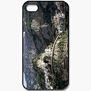 Protective Case Back Cover For iPhone 4 4S Case Rocks Home Town Black WANGJING JINDA