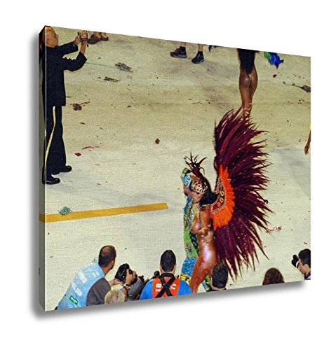 Ashley Canvas Crazy Carnival In Rio De Janeiro Wall Art Decor Stretched Gallery Wrap Giclee Print Ready to Hang Kitchen living room home office, (2)