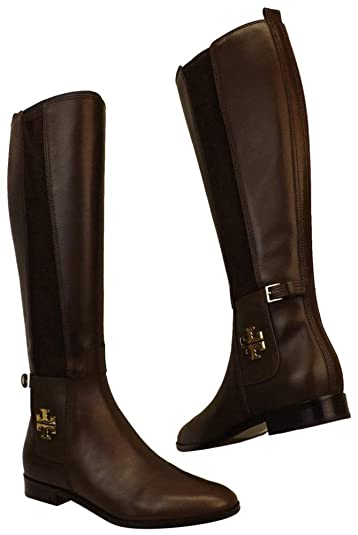 65b8a773cc5e3 Tory Burch Women s Wyatt Knee High Riding Boots Burnt Chocolate (6 B ...