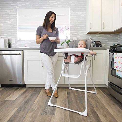 51siuTYtLML - Joovy Nook High Chair, Compact Fold, Swing Open Tray, Charcoal