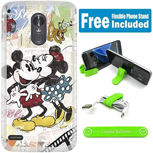 [해외][Ashley Cases] for ZTE [Blade Spark] [Grand X4] [Grand X 4] Cover Case Skin with Flexible Phone Stand - Mickey Mouse Kissing V / [Ashley Cases] for ZTE [Blade Spark] [Grand X4] [Grand X 4] Cover Case Skin with Flexible Phone Stand ...