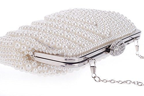 Bandouliere Sac Perle Soirée Hidouyal Pochette Sac Mariage à Main 24x3x13cm AvOq4Yx