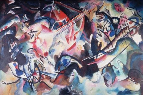 Oil Painting 'Composition VI,1913 By Vassily Kandinsky', 30 x 45 inch / 76 x 115 cm , on High Definition HD canvas prints is for Gifts And Basement, Kitchen And Study Room Decoration, diy