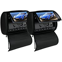 2PCS OUKU Brand Deluxe 9 Inch Black Color Car DVD Player with Protective Screen Cover 16:9 Widescreen Display