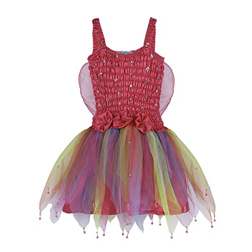 [Shu-Shi Fairy Sparkly Costume Princess Dress Up Girls Kids Toddlers With Wings] (Water Fairy Costume)