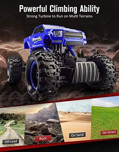 Voiture Télécommandée RC pour Véhicule Tout-Terrain à Grande Vitesse échelle 1:12 4WD Voiture électrique de Course 2,4 GHz Véhicule Buggy Voiture de Jouet pour Adultes et Enfants