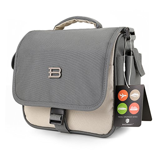 BAGSMART Digital SLR/DSLR Compact Camera Shoulder Bag, Travel SLR Gadget Bag, Beige (1 Compact Digital Camera Bag)